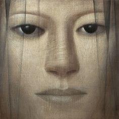 Vladimir Dunjic - Fifth Veil, 2006, oil & acrilic on wood - 70x70 cm