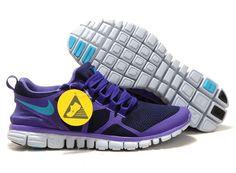 5af38e2f0e89 Eix0564 Nike Free 3.0 V3 Men s Running Shoe Obsidian Pure Purple-Turquoise  Blue For