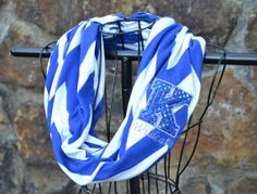 Embroidered/Appliqued Chevron Kentucky Wildcats Infinity Scarf on Etsy, $25.00
