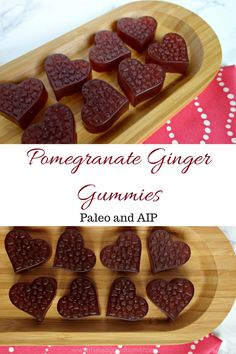 Pomegranate Ginger Gummies :: Gluten-Free, Dairy-Free, Paleo, AIP-Friendly - Delicious Obsessions®