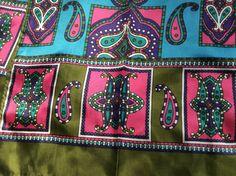 Vintage 1960s Silk Scarf Silk Twill Scarf Mod by ProctorCreations