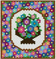 Lots of Beautiful Hexagon Quilts on this page by Mudgey Hexagon Quilt Pattern, Hexagon Patchwork, Paper Piecing Patterns, Quilt Patterns, Patchwork Patterns, Bead Patterns, Quilting Tutorials, Quilting Projects, Beaded Banners