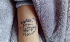 Geometric mouse tattoo - mom and dad