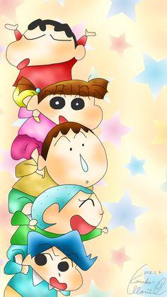 Sinchan Cartoon, Cute Cartoon Drawings, Art Drawings Sketches Simple, Disney Drawings, Sinchan Wallpaper, Cartoon Wallpaper Iphone, Cute Cartoon Wallpapers, Crayon Shin Chan, Drawings Of Friends