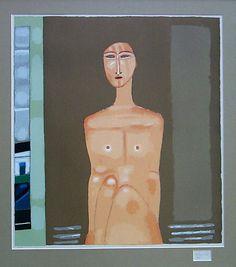 Jerzy Nowosielski 'Akt' 1998 serigrafia barwna/papier 80x70 cm