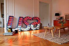 Commandez la lettre ou le mot lumineux de votre choix sur www.kidimo.com