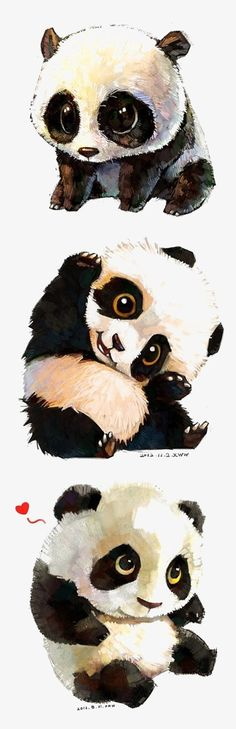 Animal drawings, cute drawings, drawing cartoon animals, panda art, panda p Chibi, Cartoon Cartoon, Animal Drawings, Cute Drawings, Drawing Animals, Panda Kawaii, Panda Lindo, Baby Animals, Cute Animals