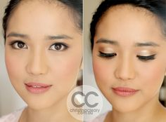 asian make up, asian eyes, angel, bridal makeup, gorgeous makeup, pretty, soft, gold eyes, black eyeliner    MAKEUP + PHOTOGRAPHY CHRISTINA CLEARY  www.christinacleary.com.au