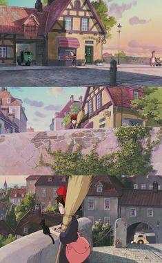 Studio Ghibli Art, Studio Ghibli Movies, Hayao Miyazaki, Tamako Love Story, Emotional Photography, Animation, Environmental Art, Aesthetic Anime, Cute Art