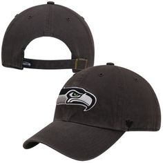 22f27745b72 Mens Seattle Seahawks  47 Brand Charcoal Cleanup Adjustable Hat