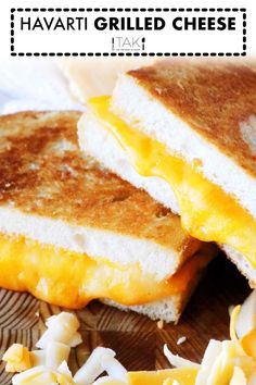 There's nothing that says comfort food like a grilled cheese sandwich! It's perfect for kid-friendly dinners and nights where easy dinners are a must! This one features fresh Cheddar and Havarti cheese and it is a gourmet twist on a classic! The best grilled cheese you've ever had -- guaranteed! Dinners For Kids, Easy Dinners, Perfect Grilled Cheese, Grill Cheese Sandwich Recipes, Havarti Cheese, Dinner Sandwiches, Best Comfort Food, Wrap Recipes, Kid Friendly Meals