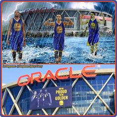 Homage to ROARacle! Oracle Arena the home of the Golden State Warriors is hallowed Warriors Ground. It's where the Splash Brothers make their magic happen! Can't wait to see KD add to the mix! Go Warriors!  @stephencurry30 @uabasketball @nike @nikebasketball @underarmour @nba @money23green @oraclearena #curry #curryshoes