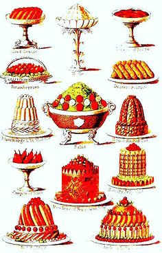 Puddings and Biscuits.               From: 1861 Mrs. Beeton's Book of Household Management.  via Google Books  (PD-150)      suzilove.com