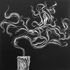 Illustration // Painting // Collage Linoleum Print von Kara Sitnik, via Behance A Season of Depressi Linoleum Print, Knight Tattoo, Black Paper Drawing, Painting Collage, Encaustic Painting, Art Folder, Linoprint, Ap Art, Chalk Pastels