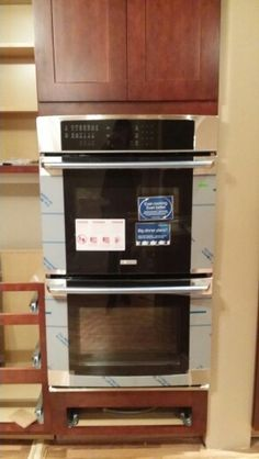 Just installed my electrolux double oven, can't wait to use it!  The kitchen is still under construction
