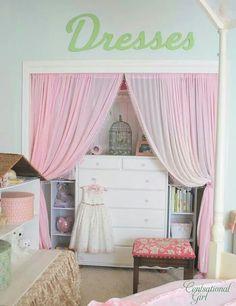 Closet con cortinas