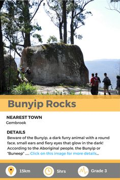 Bunyip Rocks is a day hike in Victoria, AU. Aboriginal People, Day Hike, Walks, The Darkest, Hiking, Victoria, Australia, Rock, Eyes