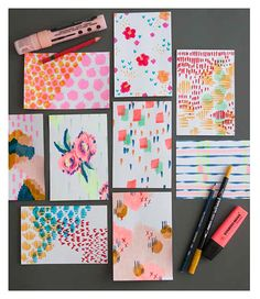 Courtney Cerruti // Playing With Surface Design - Today is going to be awesome. Courtney Cerruti // Playing With Surface Design Surface Design, Textile Patterns, Print Patterns, Motifs Organiques, Illustrations Vintage, Guache, Pattern Illustration, Mark Making, Grafik Design