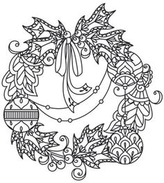 Delicate December - Wreath design (UTH7274) from UrbanThreads.com