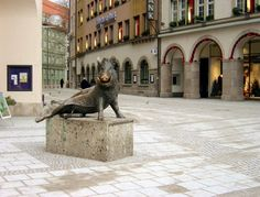 München, Germany. Wild boar sculpture in front of Hunting and Fishing Museum (Photo: My own)