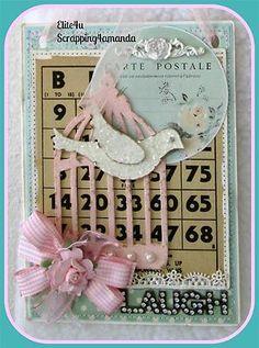 Laugh Bingo Shabby Paper Piecing Art Cards, Bingo Cards, Valentine Cards, Tim Holtz, Atc, Paper Piecing, Altered Art, More Fun, Fun Stuff