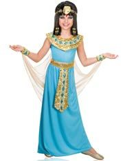 Turquoise Queen Cleopatra Girls Costume