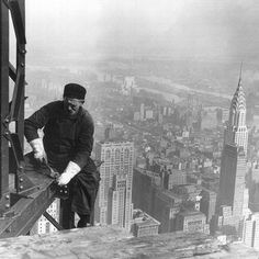 These men built New York City from the ground-up, hovering high over the streets below.