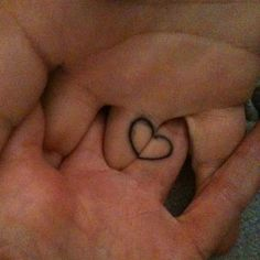 aww matching holding hands heart tattoo #tattoos