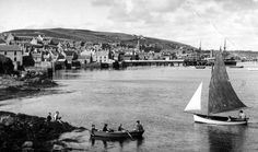Old photograph of Stromness on the Orkney Islands, Scotland