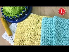 LOOM KNIT Dishcloth / Washcloth Seed Stitch Pattern Easy for Beginners - YouTube