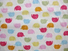 """Kawaii From Hawaii, Little Ellie Rows White"" fabric to make ellie dresses! so cute"
