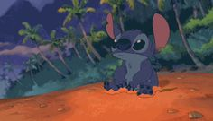 stitch looking adorable. this is one of my favorite gifs !