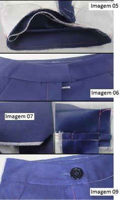 Principais operações de confecção de short de alfaiataria (parte III)