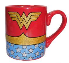Wonder Woman Ceramic Travel Mug ❤ liked on Polyvore   Geekery ...