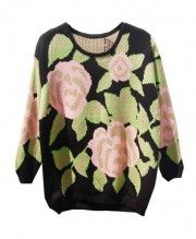 Big Heart Long Batwing Sleeves Pullover - Knitwear - Clothing