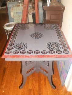 Gothic Tudor Inspired Antique Table $90 - Bowmanville http://furnishly.com/gothic-tudor-inspired-antique-table.html