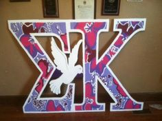 Sigma Kappa Letters  I cannot wait until I have some pretty letters in my room