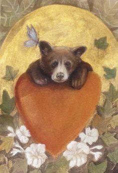 HAPPY VALENTINE! Watercolor Greeting Card set - Bear Card - Blank Greeting Card - Folded Card - Animal Card - Art Card by SleepyBearsArt on Etsy