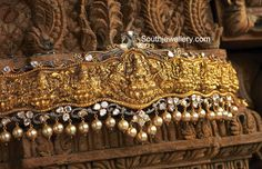 Temple Jewellery latest jewelry designs - Page 49 of 124 - Indian Jewellery Designs Indian Jewellery Design, Latest Jewellery, Indian Jewelry, Jewelry Design, Antique Jewelry, Gold Jewelry, Diamond Jewellery, Jewelery, Vaddanam Designs
