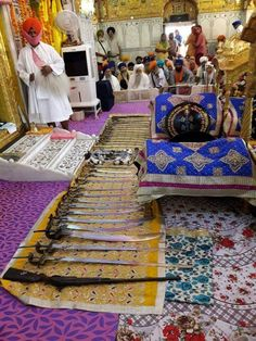 Shashtars of Sri Guru Gobind Singh Ji and Sikhs at Sachkhand Sri Hazur Sahib, Nanded, Maharashtra