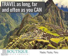 Like if you agree! #TravelMore #TravelFar#TravelForever #GoEverywhere #SeeItAll #MachuPicchu #Peru