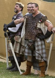 Jason Silva and others @ KVMR Grass Valley 2011--very nice kilts and armor