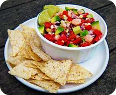 Seafood Salsa Recipe Featuring Wild Planet Pink Shrimp