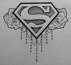 Superman sternum tattoo I designed. #CreeStrongArt #Ink #Tattoo #Superman