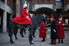 A day in the life of the Royal Household Cavalry. The amount of polishing and preparation these guys do is impressive.
