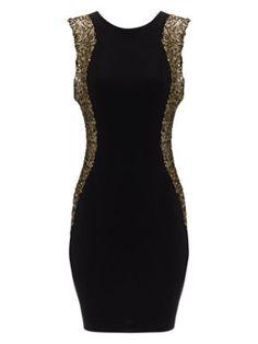 Jane norman black lace panel dress