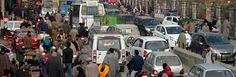 A view of traffic jam in Pulwama town. Excelsior/Younis Khaliq
