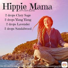 What's in your #diffuser today #hippie #mama? This blend which I've dubbed the…
