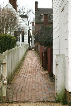 Old historic street in Colonial Williamsburg.