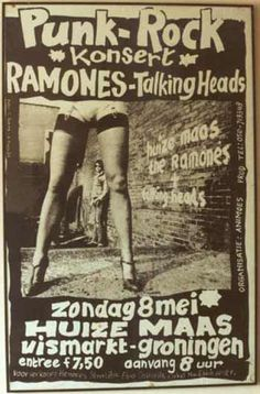 Punk Rock Konsert with Ramones & Talking Heads Pop Art Posters, Tour Posters, Band Posters, Music Posters, Retro Posters, Illustrations Posters, Pop Rock, Rock And Roll, Concert Rock